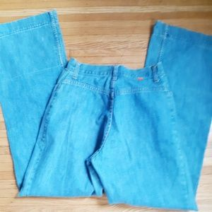 Rare Vintage 70's Orange Tab Bellbottoms 28 waist